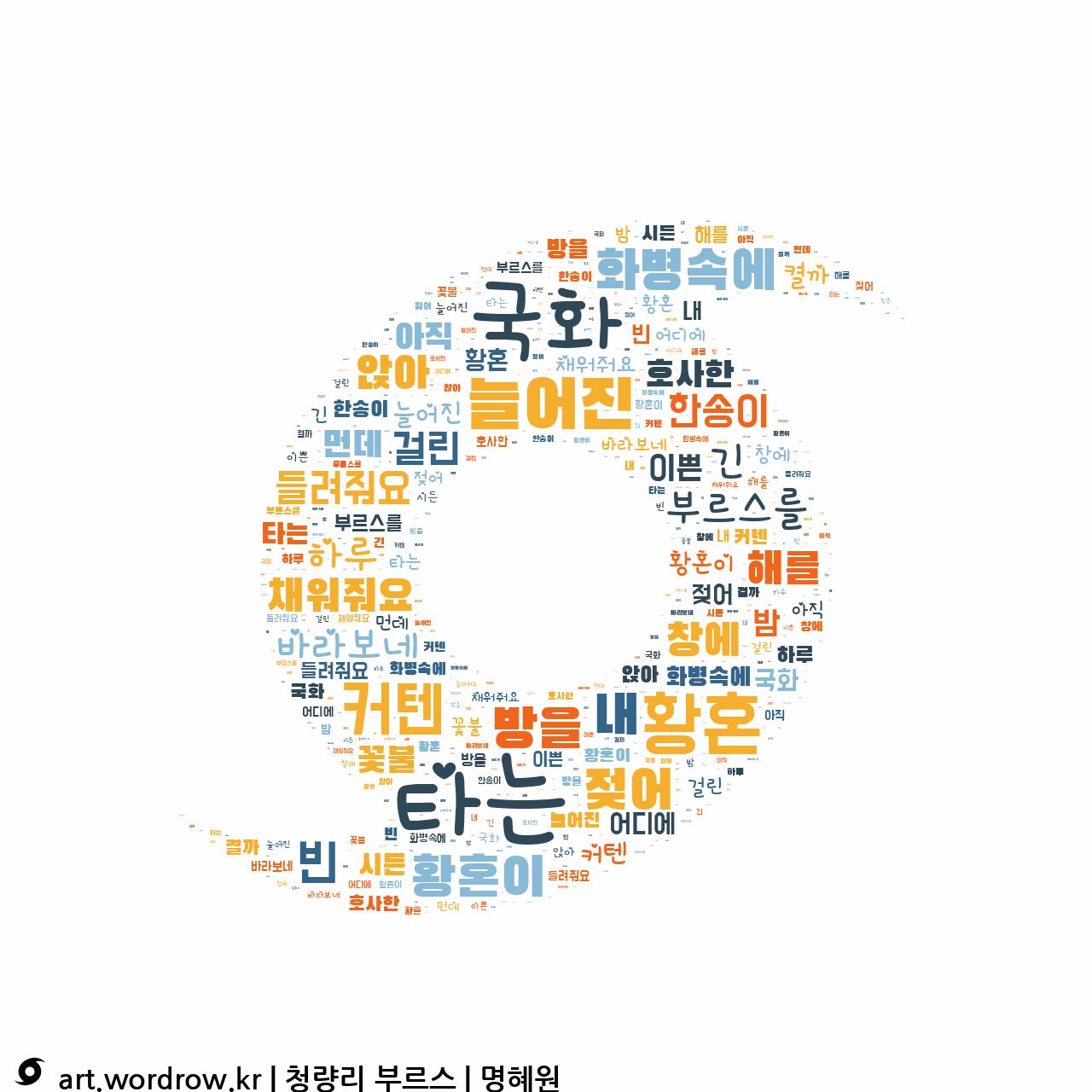 워드 아트: 청량리 부르스 [명혜원]-35